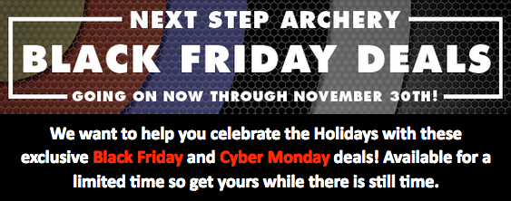 Archery Black Friday and Cyber Monday Specials